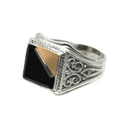Мужской серебряный перстень